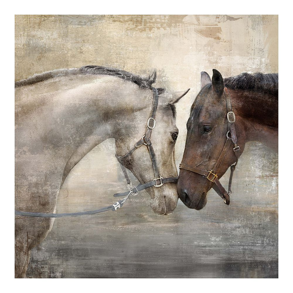 New View Gifts Together Horses Canvas Wall Art