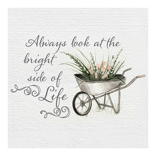 New View Gifts Bright Side of Life Canvas Wall Art