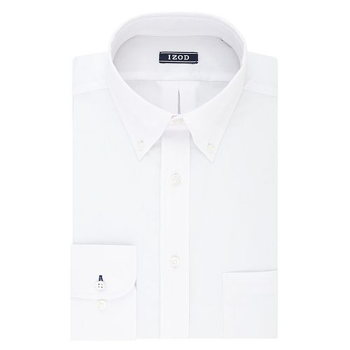 Men's IZOD Regular-Fit Wrinkle-Free Stretch Button-Down Collar Dress Shirt