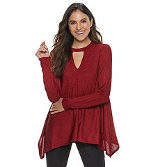 Women's Jennifer Lopez Cutout Shark-Bite Top