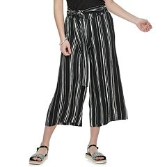 16a6bbe75c1 Juniors  Candie s® Belted Cropped Wide Leg Pants
