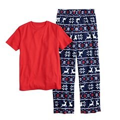 Boys 6-20 Urban Pipeline® Tee & Fleece Plants Sleep Set