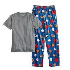 Boys 6-20 Urban Pipeline™ Tee & Fleece Plants Sleep Set
