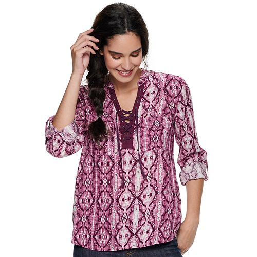 Women's Rock & Republic™ Lace Front Popover