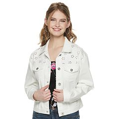 Juniors' Candie's® Cutout Eyelet Trucker Jacket