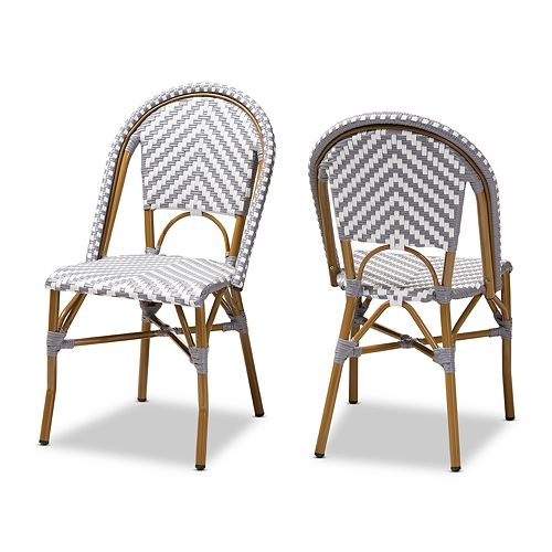 Baxton Studio Celie 2-Piece Dining Chair Set