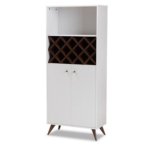 Baxton Studio Serafino Wine Cabinet