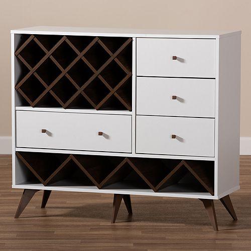 Baxton Studio Savino Wine Cabinet