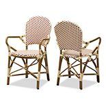 Baxton Studio Seva Dining Chair 2-piece Set