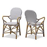 Baxton Studio Seva Dining Chair 2-piece Set