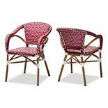 Baxton Studio Eliane 2-Piece Dining Chair Set