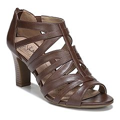 3149daf6d968 LifeStride Carter Women s Strappy Heels. Dark Tan Black Blush