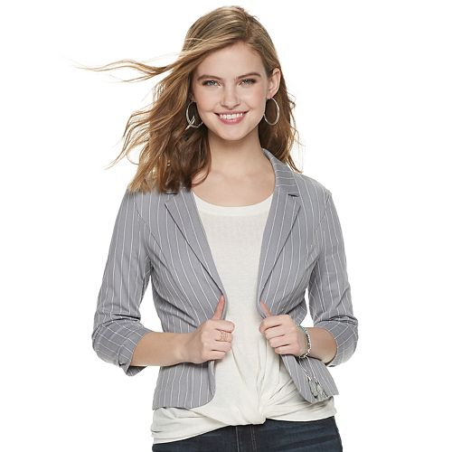 Juniors' Candie's® French Terry Knit Blazer