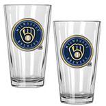 Milwaukee Brewers 2-Piece Pint Glass Set