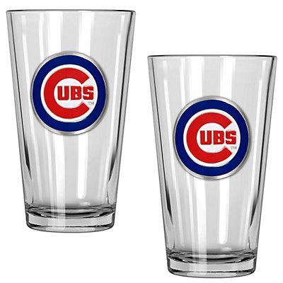 Chicago Cubs 2-Piece Pint Glass Set