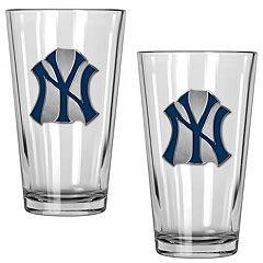 New York Yankees 2-Piece Pint Glass Set