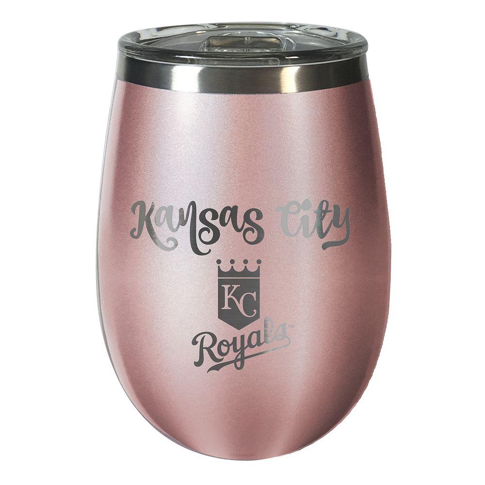 Kansas City Royals 12 oz. Rose Gold Finish Vacuum Insulated Wine Tumbler