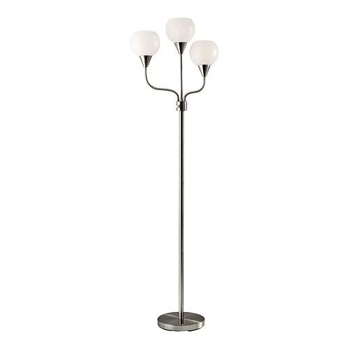 ADESSO Phillip Adjustable 3-Light Floor Lamp