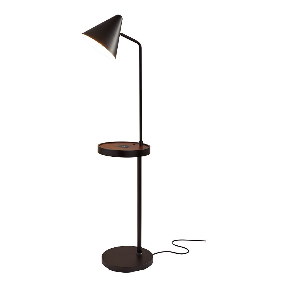 ADESSO Oliver 1-Shelf Charging Pad Floor Lamp
