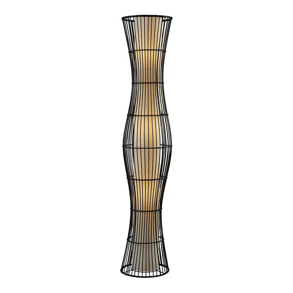 ADESSO Aloha Rattan Lantern Floor Lamp
