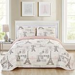 VCNY Home Carte Postale Quilt Set