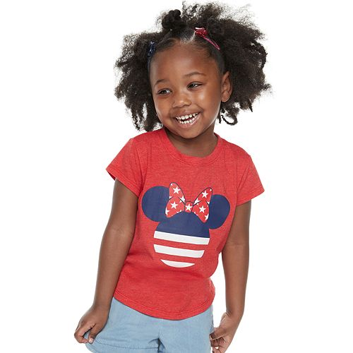 975269a2b Disney's Minnie Mouse Toddler Girl Americana Graphic Tee by Family ...
