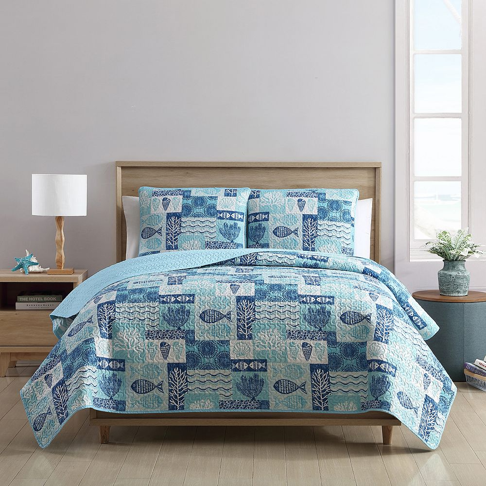 VCNY Home Patchwork Sea Life Quilt Set