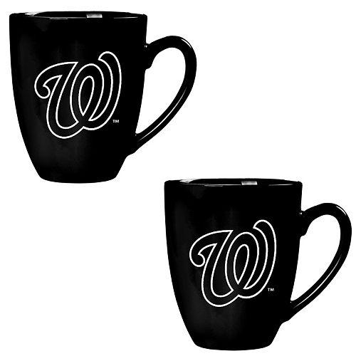 Washington Nationals Stealth 15 oz. Matte Black Powder-Coated Mug