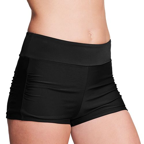 Women's Mazu Swim Solid Navy Boy Shorts
