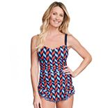 Women's Mazu Swim Shirred Skater Swim Dress