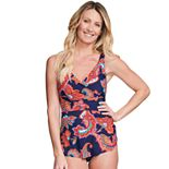 Women's Mazu Swim Wrap Dress One-Piece Swimsuit