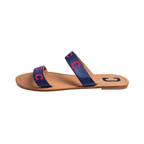 Women's Cleveland Indians Slide On Double-Strap Sandals