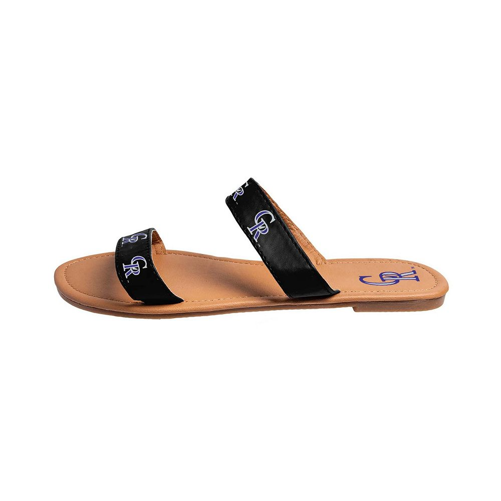 Women's Colorado Rockies Slide On Double-Strap Sandals