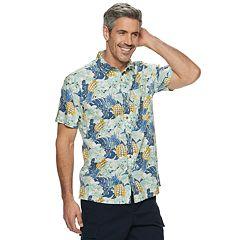 Men's Croft & Barrow® Slim-Fit Printed Linen Shirt