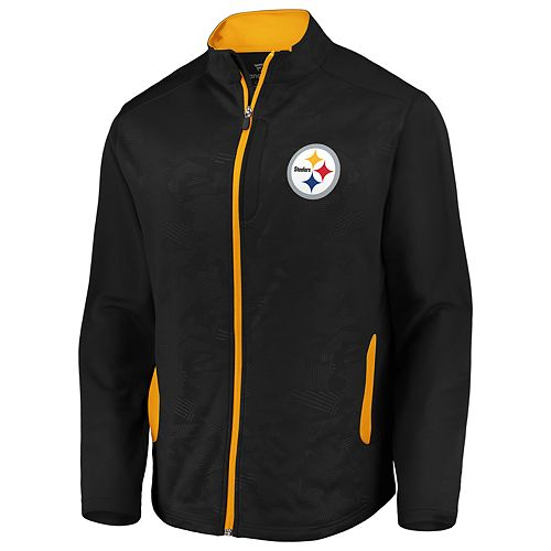 big sale 8e39c 446cd Men's NFL Pittsburgh Steelers Defender Mission Zip Up