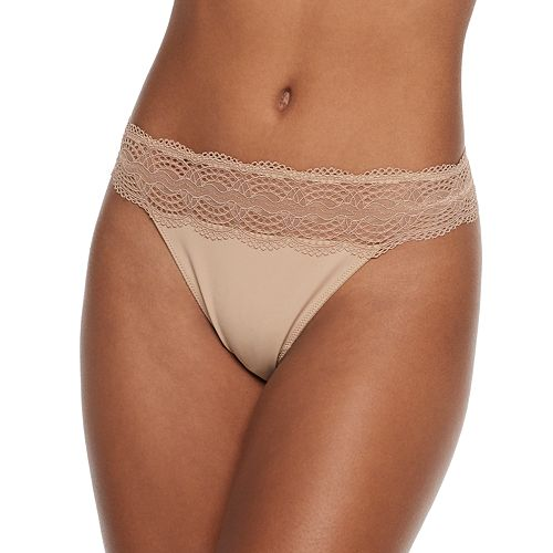 SO® Micro with Medallion Lace Thong