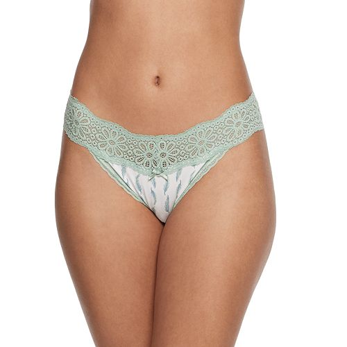 SO® Cotton & Lace String Bikini Panty
