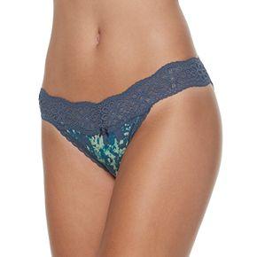 SO® Cotton & Lace String Bikini Panty