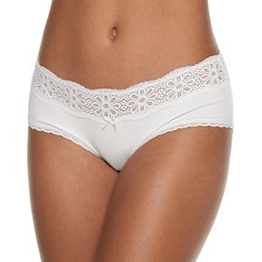 SO® Cotton Daisy Lace Boybrief Panty