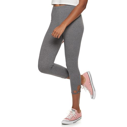 Juniors' SO® Cutout Capri Leggings