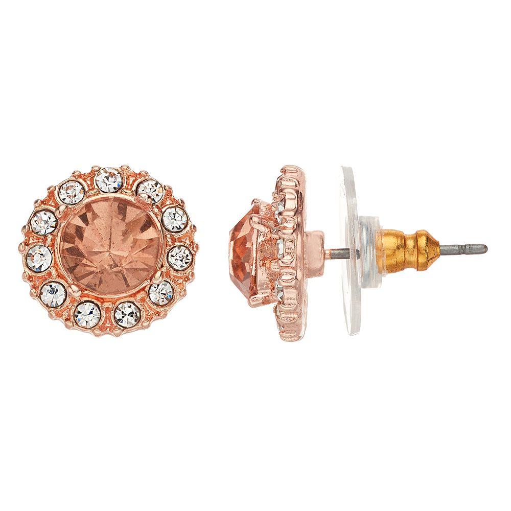 LC Lauren Conrad Nickel Free Circle Halo Stud Earrings