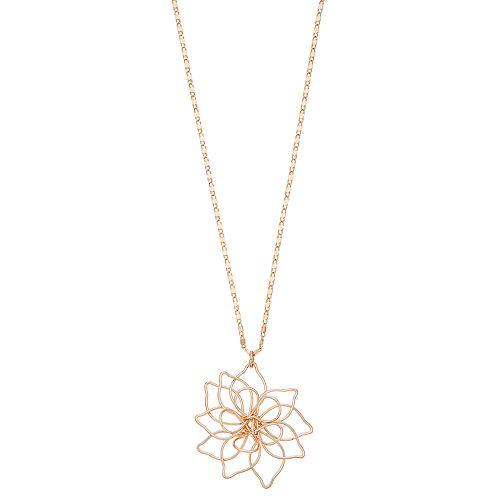 LC Lauren Conrad Openwork Flower Pendant Necklace