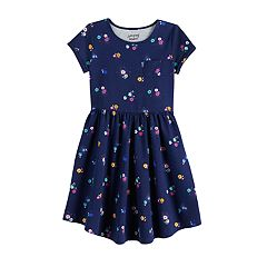 87e5fb6e405e Girls 4-12 Jumping Beans® Print Skater Dress. Unicorn Gray Ditsy Navy Black  ...