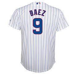 Boys 8-20 Chicago Cubs Baez Replica Home Jersey c0647b4e130b