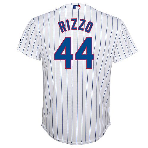 Boys 8-20  Chicago Cubs Rizzo Replica Home Jersey