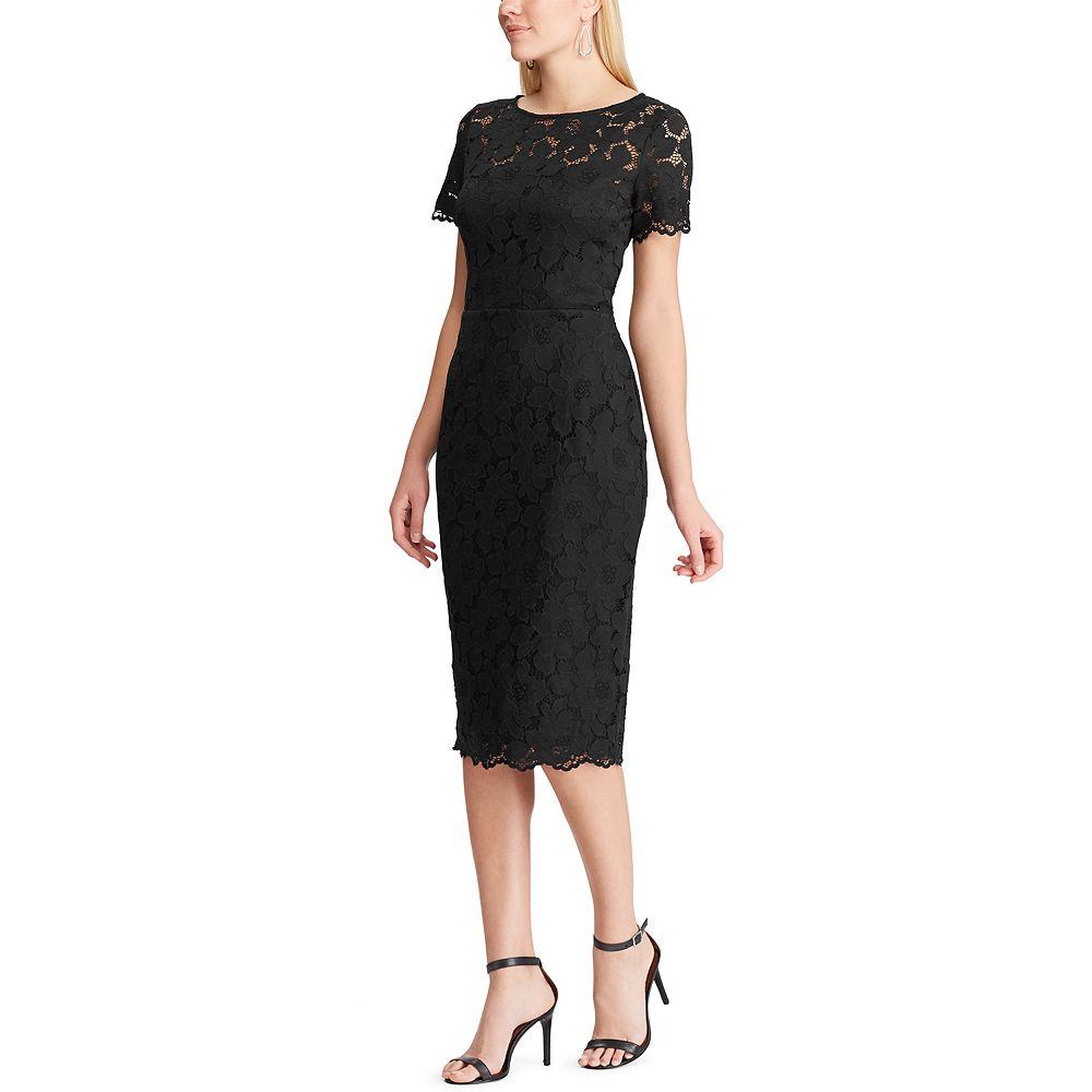 Women's Chaps Ruffle Sleeve Sequin Dress