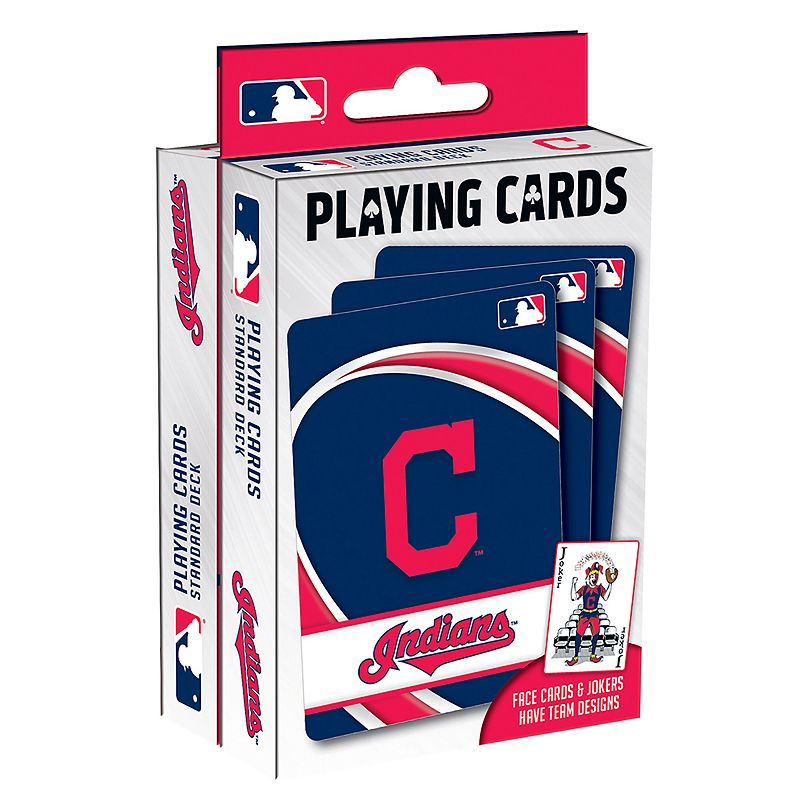Cleveland Indians Playing Cards Play your favorite cards game with these MLB playing cards. MLB 2-pack Team logo & colored graphics Officially licensed FABRIC & CARE Plastic Imported Gift Givers: This item ships in its original packaging. If intended as a gift, the packaging may reveal the contents. Size: One Size. Color: Multicolor. Gender: unisex. Age Group: kids.