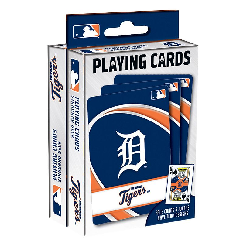 Detroit Tigers Playing Cards Play your favorite cards game with these MLB playing cards. MLB 2-pack Team logo & colored graphics Officially licensed FABRIC & CARE Plastic Imported Gift Givers: This item ships in its original packaging. If intended as a gift, the packaging may reveal the contents. Size: One Size. Color: Multicolor. Gender: unisex. Age Group: kids.