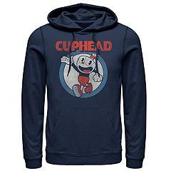 Men's Cuphead Firsties Navy Pullover Hoodie