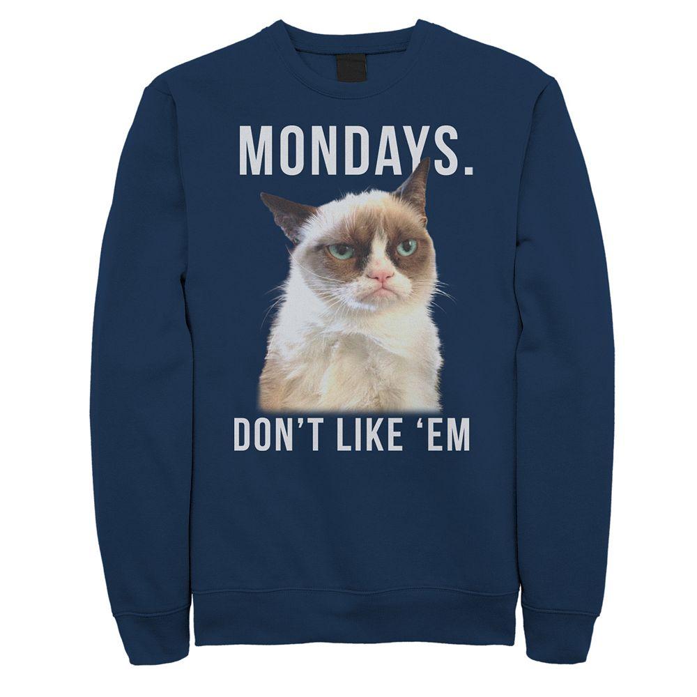 Men's Grumpy Cat Boo Mondays Fleece